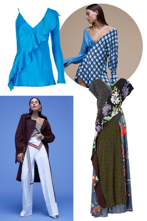 "<p>Now that&nbsp;British-born designer&nbsp;Jonathan Saunders first collection for&nbsp;Diane von Furstenberg is hitting stores (Saunders joined DVF&nbsp;as chief creative officer in Spring 2017), all heads are turned to see what he'll send down the runway for Fall/Winter 2017. His debut collection was lauded by the industry for its bright, clashing patterns and daring silhouettes, both of which are a world away&nbsp;from Furstenberg's traditional wrap dress.&nbsp;&nbsp;&nbsp;<span class=""redactor-invisible-space"" data-verified=""redactor"" data-redactor-tag=""span"" data-redactor-class=""redactor-invisible-space""></span></p><p><strong data-redactor-tag=""strong"" data-verified=""redactor""><em data-redactor-tag=""em"" data-verified=""redactor"">Clockwise from top left:&nbsp;</em></strong><span class=""redactor-invisible-space"" data-verified=""redactor"" data-redactor-tag=""span"" data-redactor-class=""redactor-invisible-space""><em data-redactor-tag=""em"" data-verified=""redactor""><em data-redactor-tag=""em"">Diane von Furstenberg&nbsp;</em><span class=""redactor-invisible-space"" data-verified=""redactor"" data-redactor-tag=""span"" data-redactor-class=""redactor-invisible-space""></span> top, similar styles at <strong data-redactor-tag=""strong"" data-verified=""redactor""><a href=""http://shop.nordstrom.com/sr?contextualcategoryid=0&amp;origin=keywordsearch&amp;keyword=diane+von+furstenberg&amp;top=66"" target=""_blank"" data-tracking-id=""recirc-text-link"">nordstrom.com</a></strong>; Diane von Furstenberg Spring '17 lookbook shot, <em data-redactor-tag=""em"">Diane von Furstenberg&nbsp;</em><span class=""redactor-invisible-space"" data-verified=""redactor"" data-redactor-tag=""span"" data-redactor-class=""redactor-invisible-space""></span> Wrap Dress, $698,<strong data-redactor-tag=""strong"" data-verified=""redactor""><a href=""http://shop.nordstrom.com/s/diane-von-furstenberg-faux-wrap-silk-maxi-dress/4558371?origin=keywordsearch-personalizedsort&amp;fashioncolor=FERMA%20BLUE"" target=""_blank"" data-tracking-id=""recirc-text-link"">nordstrom.com</a></strong>;&nbsp;Diane von Furstenberg Spring '17 lookbook shot</em><span class=""redactor-invisible-space"" data-verified=""redactor"" data-redactor-tag=""span"" data-redactor-class=""redactor-invisible-space""><em data-redactor-tag=""em"" data-verified=""redactor"">.&nbsp;</em></span></span><br></p>"