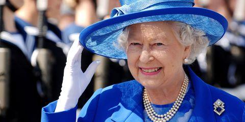 Blue, Chin, Hat, Fashion accessory, Happy, Facial expression, Electric blue, Headgear, Costume accessory, Fashion,