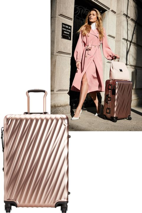 "<p>Whether you're heading to Europe for&nbsp;fashion month or flying to the tropics, a standout&nbsp;(and lightweight!), suitcase is a must.<span class=""redactor-invisible-space"" data-verified=""redactor"" data-redactor-tag=""span"" data-redactor-class=""redactor-invisible-space""></span></p><p><span class=""redactor-invisible-space"" data-verified=""redactor"" data-redactor-tag=""span"" data-redactor-class=""redactor-invisible-space""><em data-verified=""redactor"" data-redactor-tag=""em"">Tumi suitcase, $1,195, <a href=""https://shop.harpersbazaar.com/designers/tumi/tumi-19-degree-aluminum-short-trip-packing-case-12079.html"" data-tracking-id=""recirc-text-link"">ShopBAZAAR.com</a>.&nbsp;</em><br></span></p>"