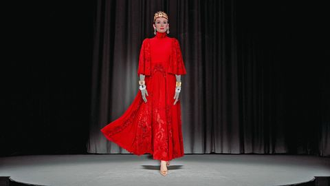 "<p><strong data-redactor-tag=""strong"" data-verified=""redactor"">Valentino</strong> dress, $9,980,&nbsp;212-355-5811;&nbsp;<strong data-redactor-tag=""strong"" data-verified=""redactor"">Dolce &amp; Gabbana </strong>crown, $2,875,&nbsp;877-70-DGUSA;&nbsp;<strong data-redactor-tag=""strong"" data-verified=""redactor"">Harry Winston</strong> earrings, price upon request,&nbsp;212-399-1000;&nbsp;<strong data-redactor-tag=""strong"" data-verified=""redactor"">Buccellati</strong> cuff, price upon request;&nbsp;<strong data-redactor-tag=""strong"" data-verified=""redactor"">Etro </strong>bangles, $406–$921,&nbsp;<a href=""http://www.etro.com/"" target=""_blank"" data-tracking-id=""recirc-text-link"">etro.com</a>,&nbsp;212-308-2900;&nbsp;<strong data-redactor-tag=""strong"" data-verified=""redactor"">Roger Vivier</strong> shoes, $1,750,&nbsp;<a href=""http://www.rogervivier.com/en-us/"" target=""_blank"" data-tracking-id=""recirc-text-link"">rogervivier.com</a>.  <span class=""redactor-invisible-space"" data-verified=""redactor"" data-redactor-tag=""span"" data-redactor-class=""redactor-invisible-space""></span></p>"