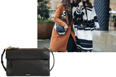 "<p>The ultimate running-about-town option is the cross-body, a wardrobe must-have<span class=""redactor-invisible-space"" data-verified=""redactor"" data-redactor-tag=""span"" data-redactor-class=""redactor-invisible-space"">.&nbsp;</span></p><p><span class=""redactor-invisible-space"" data-verified=""redactor"" data-redactor-tag=""span"" data-redactor-class=""redactor-invisible-space""><em data-verified=""redactor"" data-redactor-tag=""em"">Tumi cross-body, $395, <a href=""https://shop.harpersbazaar.com/designers/tumi/tumi-tristen-crossbody-12081.html"" data-tracking-id=""recirc-text-link"">ShopBAZAAR.com</a>.&nbsp;</em><br></span></p>"