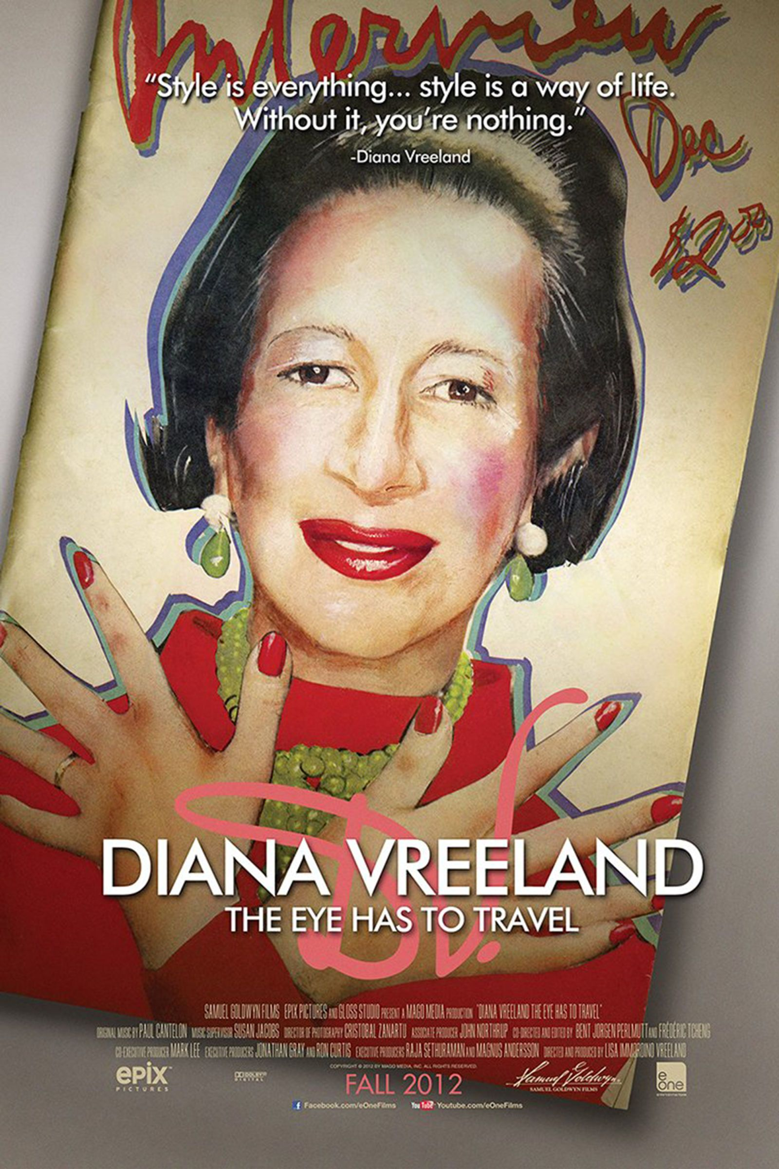 """<p>A labor of love, this documentary about the legendary fashion editor was the brainchild of Lisa Immordino Vreeland, the wife of Diana's grandson Alexander. Using the tapes Diana made to write her biography<em data-verified=""""redactor"""" data-redactor-tag=""""em"""">D.V.</em><span class=""""redactor-invisible-space""""> and speaking to those who knew her, (such as David Bailey and Penelope Tree) Lisa discovered not only Diana's well-documented influence on the fashion world, but also her private vulnerabilities and insecurities.</span></p>"""