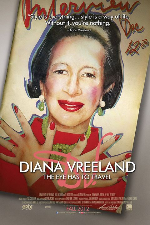 "<p>A labor of love, this documentary about the legendary fashion editor was the brainchild of Lisa Immordino Vreeland, the wife of Diana's grandson Alexander. Using the tapes Diana made to write her biography&nbsp;<em data-verified=""redactor"" data-redactor-tag=""em"">D.V.</em><span class=""redactor-invisible-space""> and speaking to those who knew her, (such as David Bailey and Penelope Tree) Lisa discovered not only Diana's well-documented influence on the fashion world, but also her private vulnerabilities and insecurities.&nbsp;</span></p>"