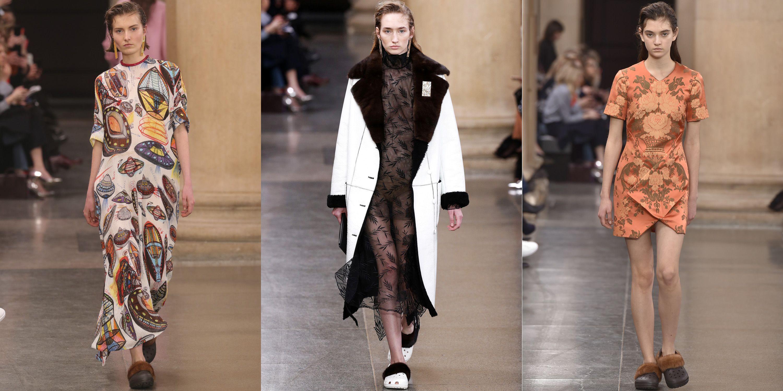 59d907341 Christopher Kane Puts Fur Crocs On The Runway at London Fashion Week ...