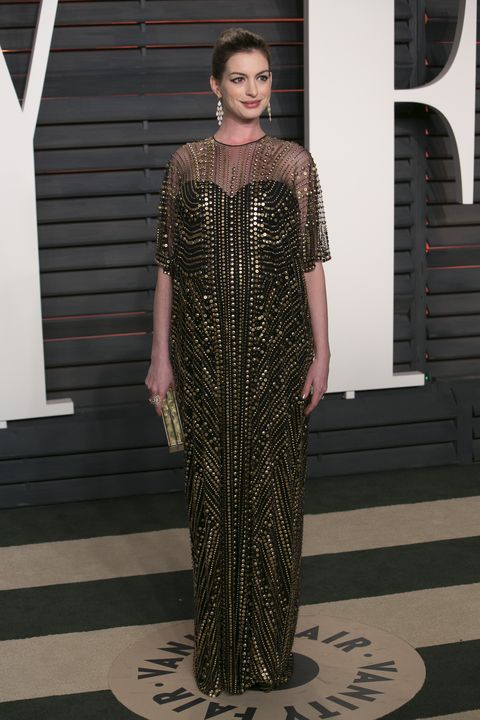 <p>In Naeem Khan at the 2016 Academy Awards.</p>