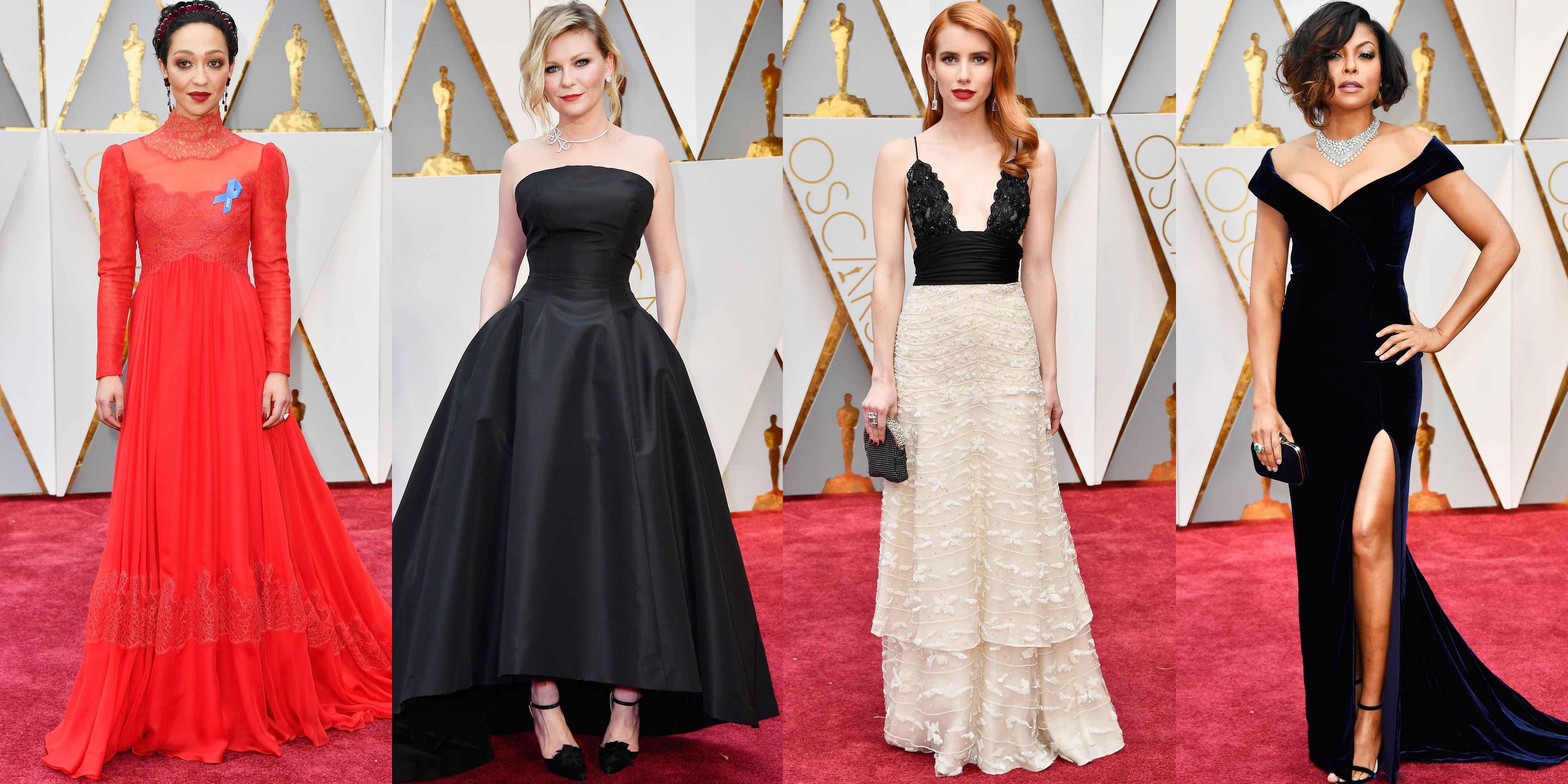 Red carpet fashion at the oscars 85