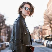 """<p><strong data-redactor-tag=""""strong"""" data-verified=""""redactor"""">The Details:</strong> """"I love this studded&nbsp&#x3B;Alexander Wang bag and I opened&nbsp&#x3B;his show this season, so it's extra special.""""<span class=""""redactor-invisible-space"""" data-verified=""""redactor"""" data-redactor-tag=""""span"""" data-redactor-class=""""redactor-invisible-space""""></span></p><p><br></p><p><em data-redactor-tag=""""em"""" data-verified=""""redactor"""">Belstaff leather jacket, similar style at&nbsp&#x3B;<a href=""""http://shop.nordstrom.com/s/belstaff-burnett-leather-moto-jacket/4514109?origin=category-"""" target=""""_blank"""" data-tracking-id=""""recirc-text-link"""">nordstrom.com</a>&#x3B;</em><span class=""""redactor-invisible-space"""" data-verified=""""redactor"""" data-redactor-tag=""""span"""" data-redactor-class=""""redactor-invisible-space""""><em data-redactor-tag=""""em"""" data-verified=""""redactor""""></em>&nbsp&#x3B;<em data-redactor-tag=""""em"""">Frame jeans, $209,&nbsp&#x3B;<a href=""""http://shop.nordstrom.com/s/frame-forever-karlie-skinny-jeans-film-noir/4244206?origin=keywordsearch-personalizedsort&amp&#x3B;fashioncolor=FILM%20NOIR"""" target=""""_blank"""" data-tracking-id=""""recirc-text-link"""">nordstrom.com</a>&#x3B;</em><span class=""""redactor-invisible-space"""" data-verified=""""redactor"""" data-redactor-tag=""""span"""" data-redactor-class=""""redactor-invisible-space"""">&nbsp&#x3B;</span><em data-redactor-tag=""""em"""" data-verified=""""redactor"""">Alexander Wang bag, $495,&nbsp&#x3B;<a href=""""http://shop.nordstrom.com/s/alexander-wang-biker-leather-crossbody-wallet/4579672?origin=category-"""" target=""""_blank"""" data-tracking-id=""""recirc-text-link"""">nordstrom.com</a>&#x3B; Ray Ban sunglasses, $150,&nbsp&#x3B;<a href=""""http://shop.nordstrom.com/s/ray-ban-highstreet-57mm-sunglasses/3340892?origin=keywordsearch-personalizedsort&amp&#x3B;fashioncolor=DEMI%20BLACK%2F%20GREEN%20SOLID"""" target=""""_blank"""" data-tracking-id=""""recirc-text-link"""">nordstrom.com</a>.&nbsp&#x3B;</em><span class=""""redactor-invisible-space"""" data-verified=""""redactor"""" data-redactor-tag=""""span"""" data-redactor-class=""""redactor-invisible"""