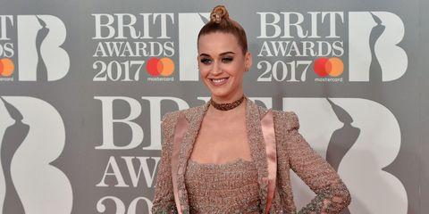 Katy Perry at the 2017 Brit Awards