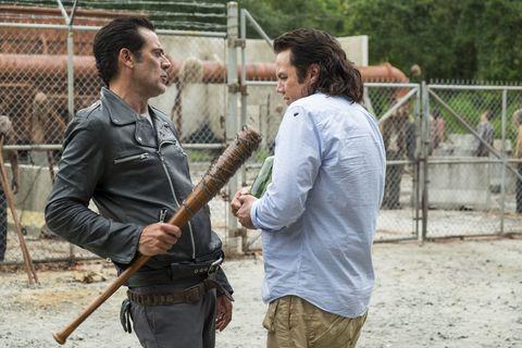 Negan and Eugene in The Walking Dead season 7 episode 11