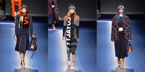 Sleeve, Textile, Pattern, Style, Headgear, Street fashion, Fashion, Orange, Electric blue, Fashion model,