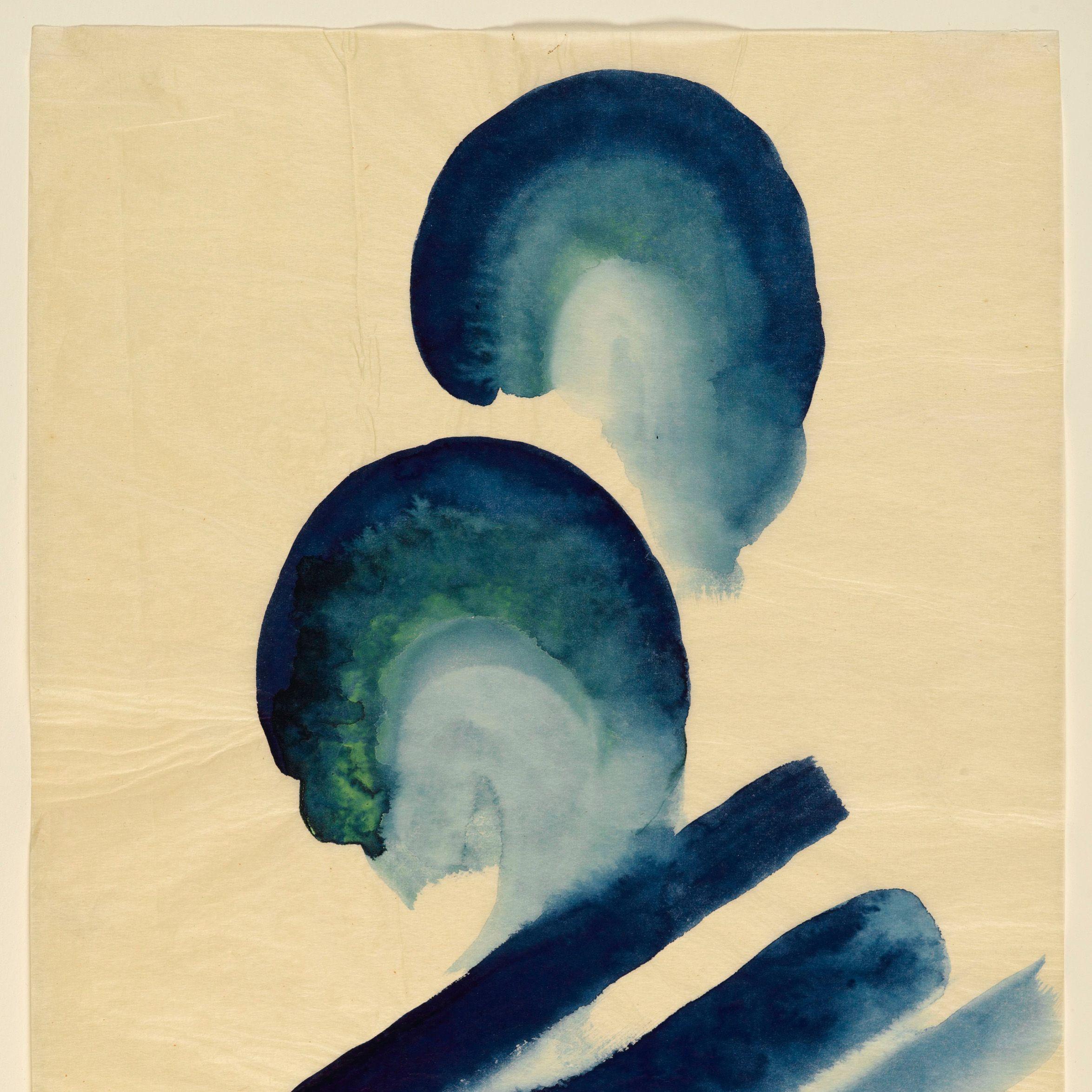 "<p>Georgia O'Keeffe (American 1887-1986).<em data-redactor-tag=""em"" data-verified=""redactor""> Blue #2</em>, 1916. Watercolor on paper, 15 7/8 x 11 in. (40.3 x 27.8 cm). Brooklyn Museum&#x3B; Bequest of Mary T. Cockcroft, by exchange, 58.74. ( Photo: Sarah DeSantis, Brooklyn Museum)&nbsp&#x3B;</p>"