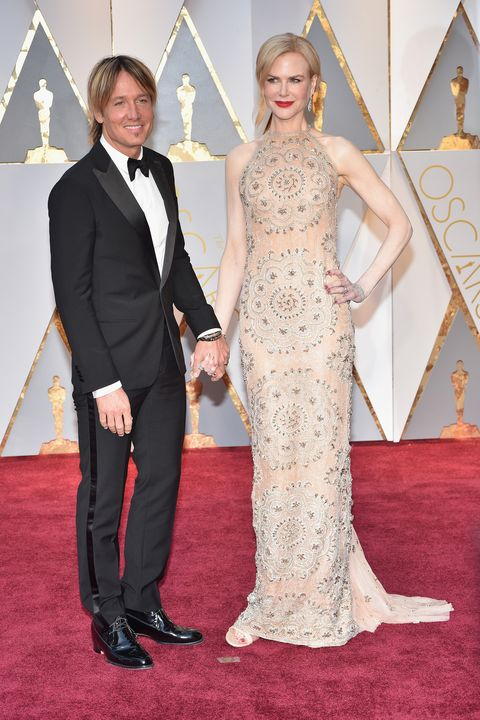 HOLLYWOOD, CA - FEBRUARY 26:  (L-R) Singer Keith Urban and actor Nicole Kidman attend the 89th Annual Academy Awards at Hollywood & Highland Center on February 26, 2017 in Hollywood, California.  (Photo by Kevin Mazur/Getty Images)