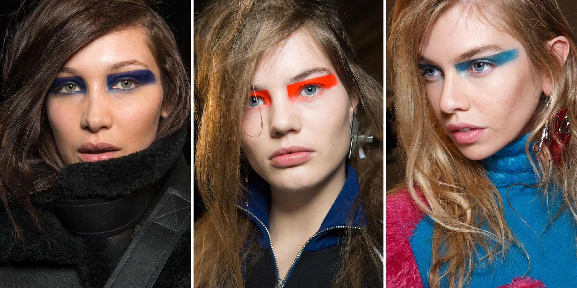 <p>Though the strong swipe of color along the eyelids at Versus Versace reminded us of the makeup at Prabal Gurung, it was actually a take on a similar look from last season.</p>