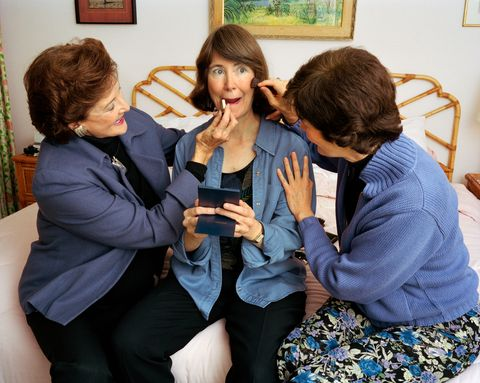 <p>Mum and Laine making me up, Washington, D.C., 2004&nbsp;</p>