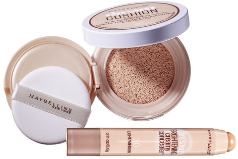 "<p>For Hadid's signature look,""the skin needs to appear natural yet perfected,""&nbsp;<span>says Lee, who recommends Maybelline's Dream Cushion foundation as a first step.""It has medium,buildable coverage that doesn't feel heavy."" Lee suggests&nbsp;</span><span>dipping a damp makeup sponge into the compact, dotting the foundation onto&nbsp;</span><span>your face, then blending out with the sponge for a sheer, your-skin-but-better finish. Next, apply creamy concealer in a slightly lighter shade than your skin tone to brighten your under-eye area and cover any blemishes or dark spots. Tap in the concealer with your finger or blend with a fluffy brush for a vibrant, youthful look.""Everyone wants this kind of illuminated effect,"" Lee says. ""It feels fresh and photographs beautifully.""</span></p><p><strong data-redactor-tag=""strong"" data-verified=""redactor"">Maybelline New York</strong> Dream Cushion Foundation, $16, <a href=""https://www.maybelline.com/face-makeup/foundation/dream-cushion-fresh-face-liquid-foundation"" target=""_blank"" data-tracking-id=""recirc-text-link"">maybelline.com</a>.</p>"