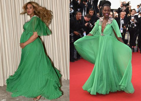 572ee6426e2 Beyonce Wore Same Green Gucci Gown As Lupita Nyong o - Beyonce Green ...