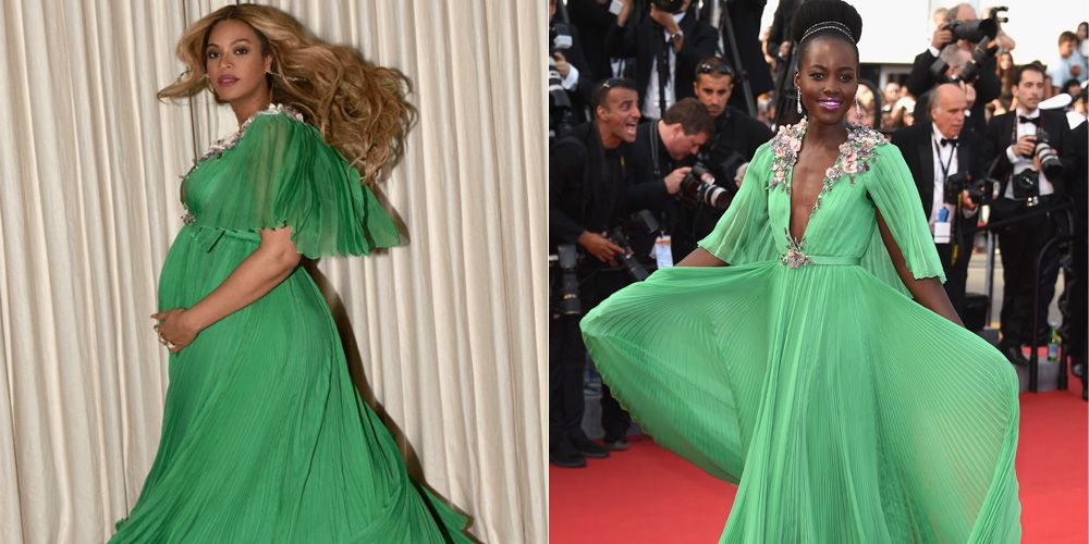 Beyonce Wore Same Green Gucci Gown As Lupita Nyong\'o - Beyonce Green ...