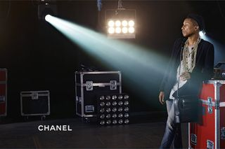 21385d318dd2 Pharrell Is the First Man to Star in Chanel Handbag Ads - Pharrell ...