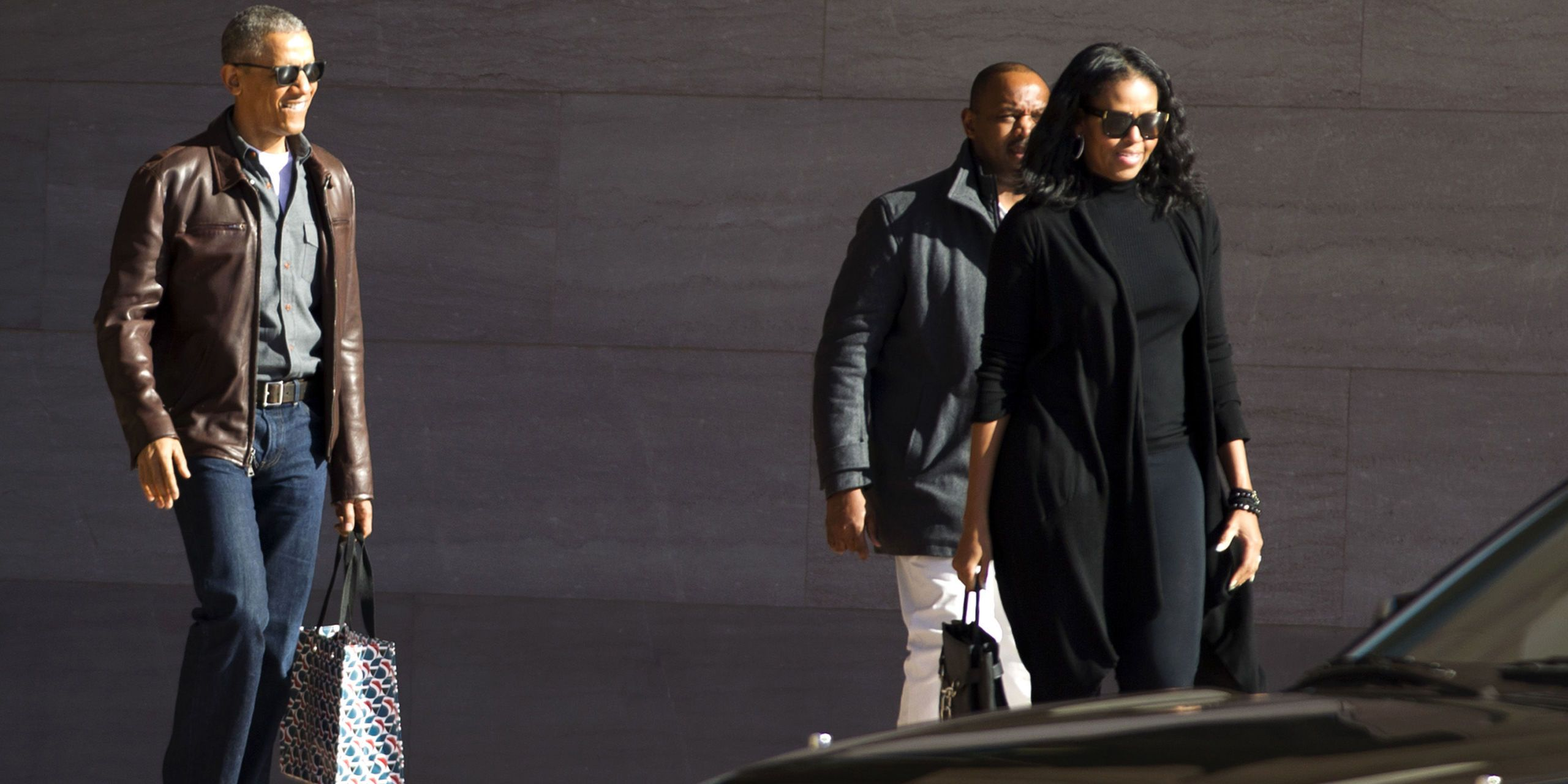 Drop Everything and Look at Barack Obama Sporting a Leather Jacket Like a Boss