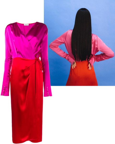 "<p>Take a page from Attico designer Gilda Ambrosio and test drive your own designs.&nbsp;</p><p><em data-verified=""redactor"" data-redactor-tag=""em"">Attico dress, $1,070, <a href=""https://shop.harpersbazaar.com/designers/attico/gabriela-long-sleeve-wrap-dress-12759.html"" data-tracking-id=""recirc-text-link"">ShopBAZAAR.com</a>.</em><br></p>"