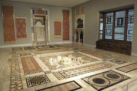 Floor, Carpet, Tile, Flooring, Room, Mosaic, Interior design, Architecture, Art, Collection,