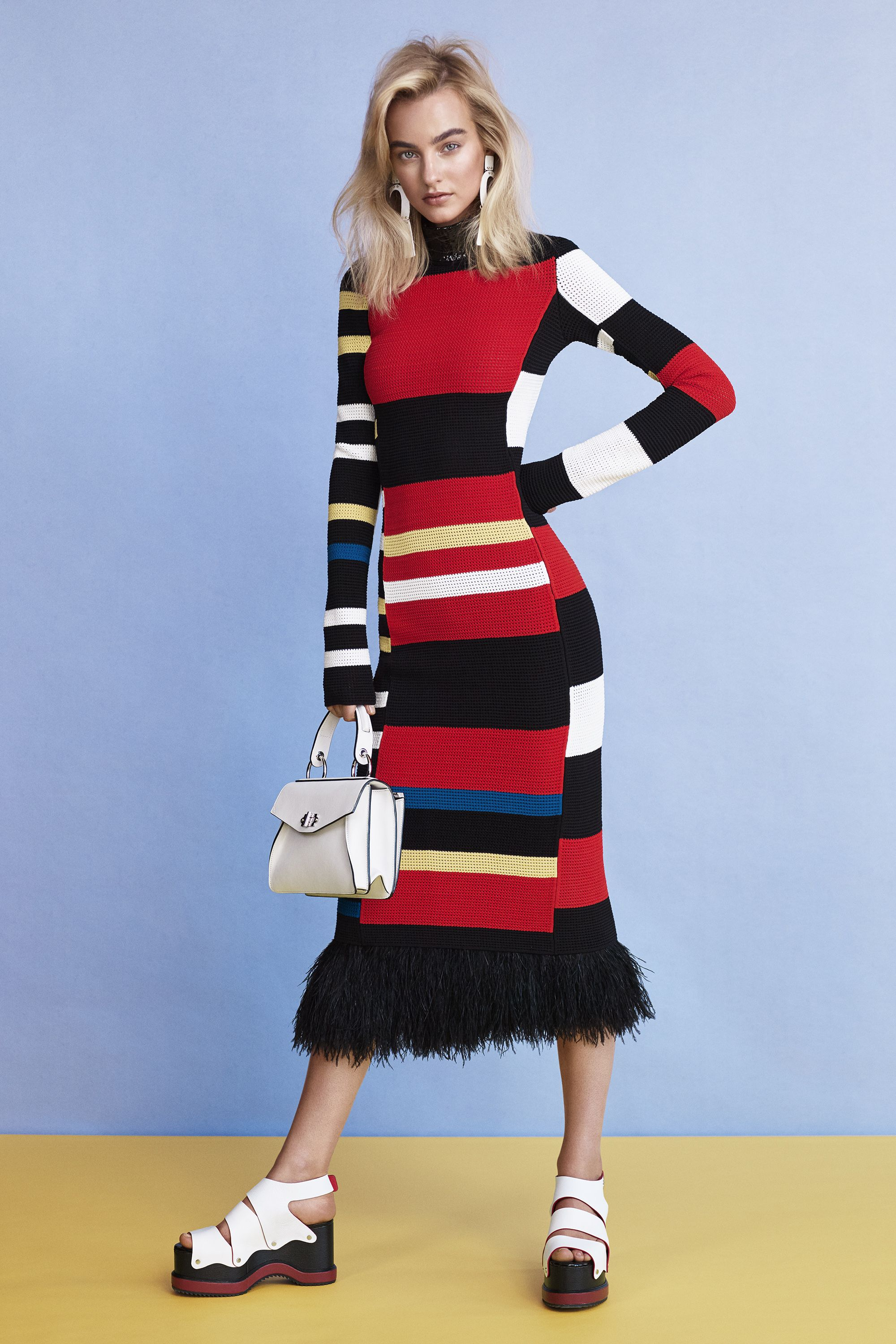 "<p><strong data-redactor-tag=""strong"" data-verified=""redactor"">Proenza Schouler </strong>dress, $4,250, earrings, $695, bag, $1,650, shoes, $1,050, and choker, price upon request 212-420-7300, <a href=""https://shop.harpersbazaar.com/designers/proenza-schouler/"" target=""_blank"" data-tracking-id=""recirc-text-link"">shopBAZAAR.com</a>.</p>"