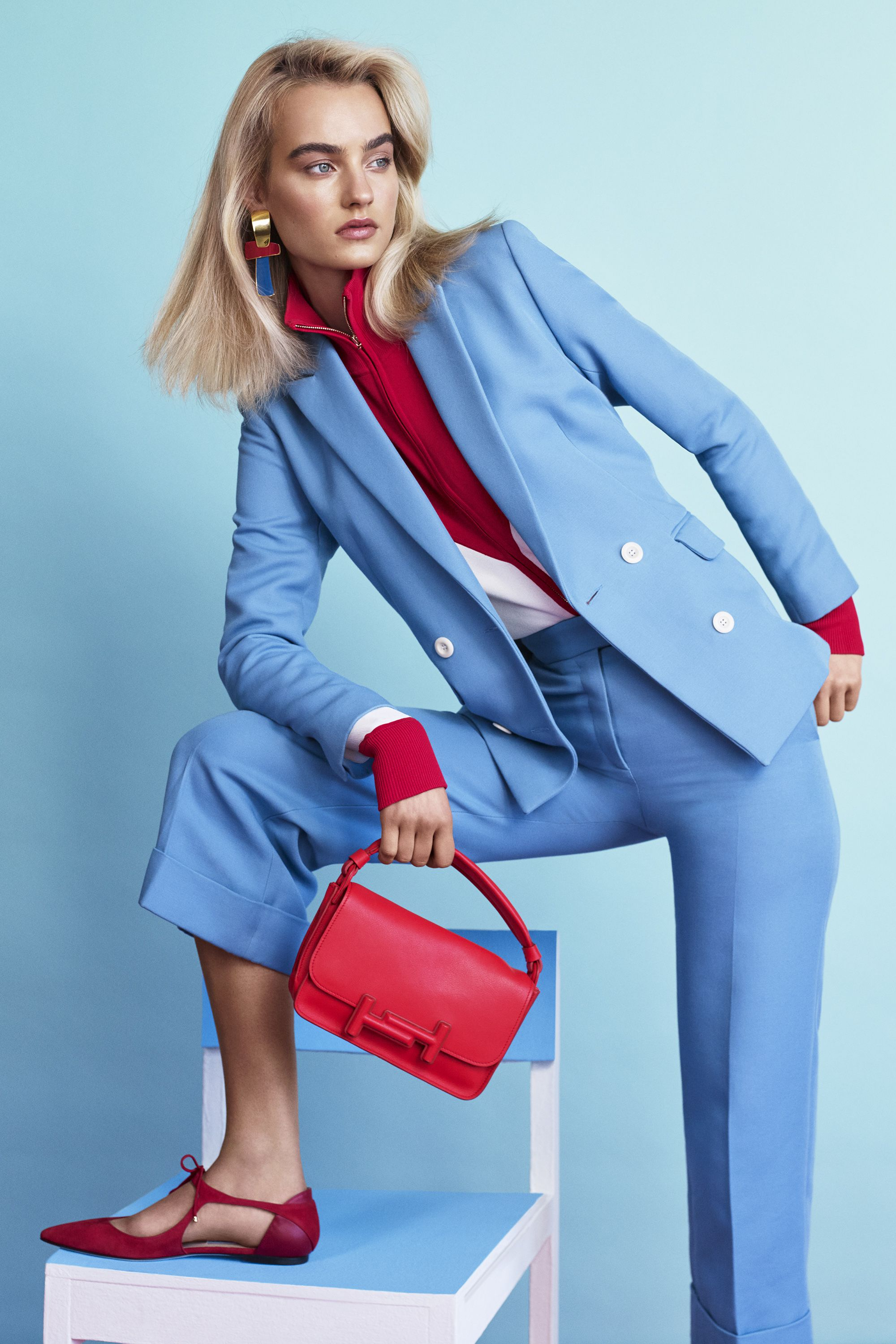 "<p><strong data-redactor-tag=""strong"" data-verified=""redactor"">Sandro</strong> blazer, $595, sweater, $295, pants, $275, <a href=""http://us.sandro-paris.com/en/womens/"" target=""_blank"" data-tracking-id=""recirc-text-link"">sandro.com</a>; <strong data-redactor-tag=""strong"" data-verified=""redactor"">Tod's </strong>bag, $1,925, 212-644-5945; <strong data-redactor-tag=""strong"" data-verified=""redactor"">Jimmy Choo</strong> shoes, $650, <a href=""http://us.jimmychoo.com/en/home"" target=""_blank"" data-tracking-id=""recirc-text-link"">jimmychoo.com</a>; <strong data-redactor-tag=""strong"">Lizzie Fortunato</strong> earrings, $240, <a href=""https://shop.harpersbazaar.com/designers/lizzie-fortunato/"" target=""_blank"" data-tracking-id=""recirc-text-link"">shopBAZAAR.com</a>.<strong data-redactor-tag=""strong"">  </strong><span class=""redactor-invisible-space"" data-verified=""redactor"" data-redactor-tag=""span"" data-redactor-class=""redactor-invisible-space""></span></p>"