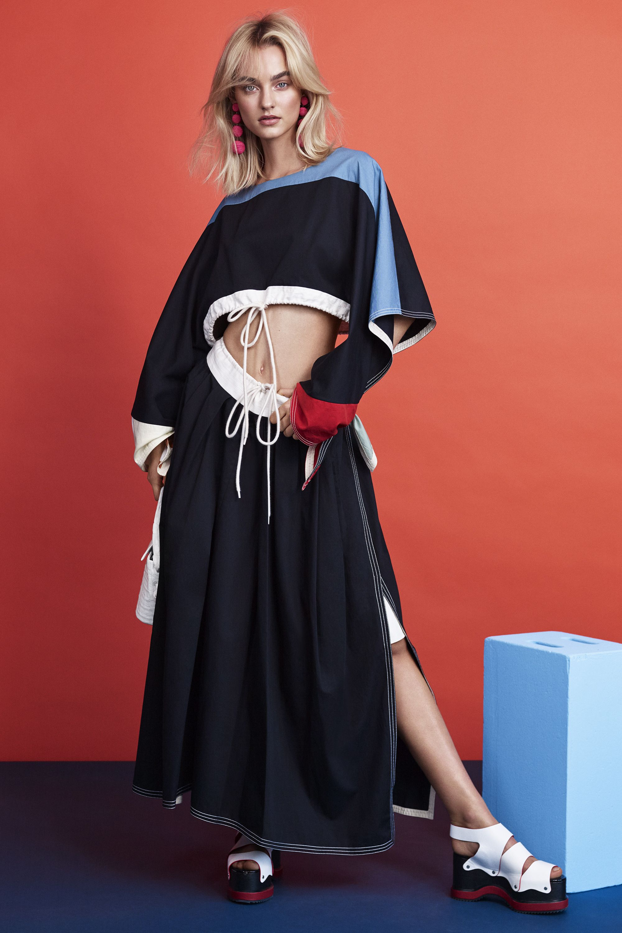 "<p><strong data-redactor-tag=""strong"" data-verified=""redactor"">Chloé </strong>top, $1,150, and skirt, $1,050, Saks Fifth Avenue, 877-551-7257;<strong data-redactor-tag=""strong"" data-verified=""redactor""> Rebecca de Ravenel </strong>earrings, $325, <a href=""https://rebeccaderavenel.com/"" target=""_blank"" data-tracking-id=""recirc-text-link"">rebeccaderavenel.com</a>; <strong data-redactor-tag=""strong"" data-verified=""redactor"">Nancy Gonzalez</strong> bag, $2,350, Bergdorf Goodman, 888-774-2424; <strong data-redactor-tag=""strong"" data-verified=""redactor"">Proenza Schouler</strong> shoes, $1,050, 212-420-7300.<br></p>"