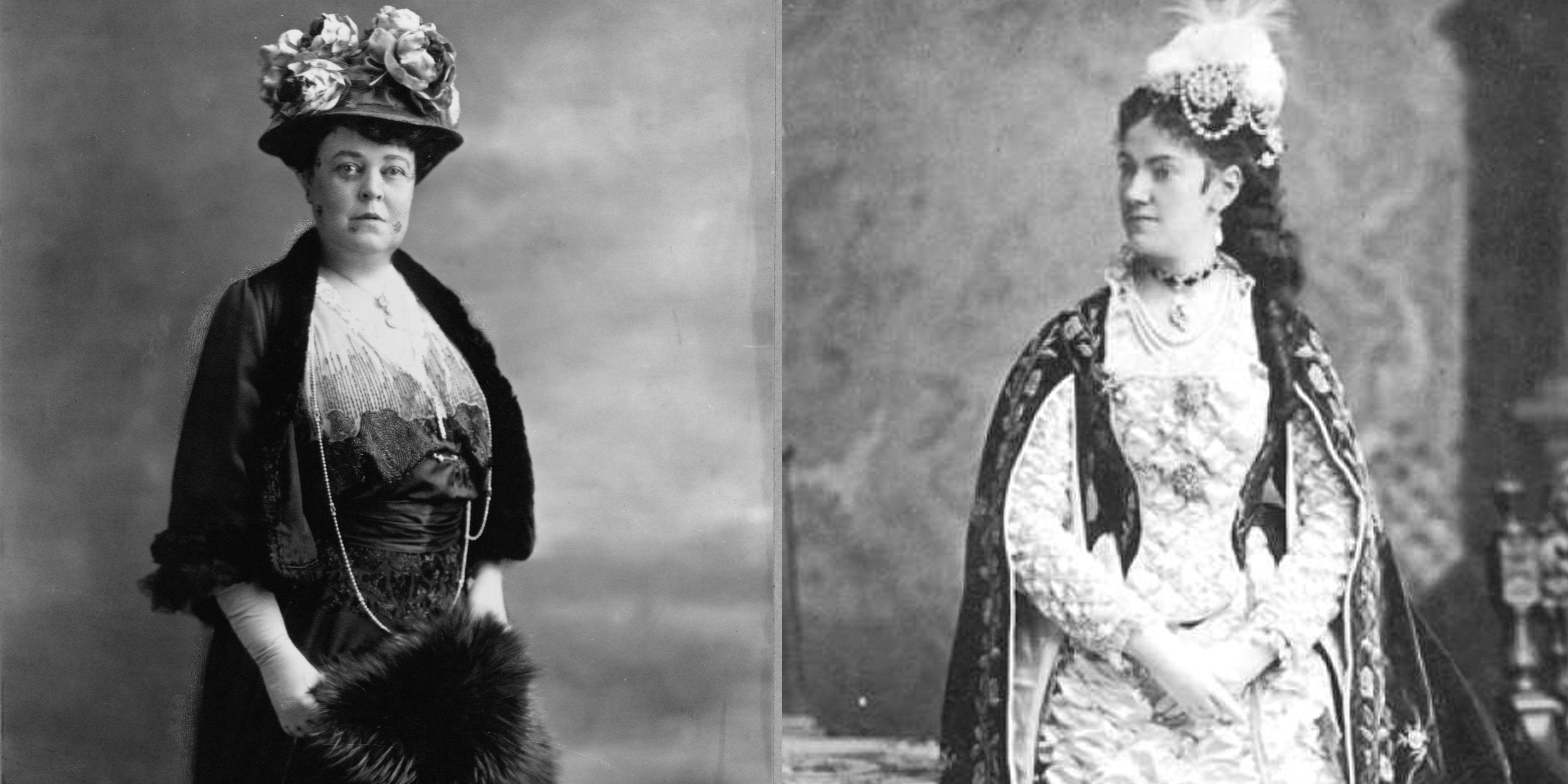 Alva Vanderbilt and Caroline Astor