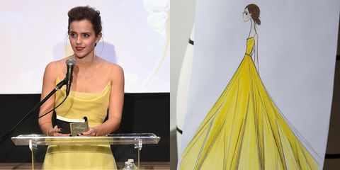 4b5bc5bd4c2 This Is How Emma Watson s Belle-Inspired Dior Dress Was Made