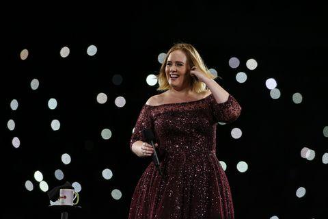 Adele performing in Brisbane, Australia