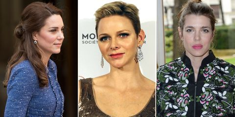 <p>Though movies and fairytales would have you believe that princesses walk around in full gowns and tiaras 24/7—that's obviously not the case. Here, the Duchess of Cambridge, Princess Charlene of Monaco, and Princess Charlotte of Monaco show off what royal beauty looks like in the day-to-day.&nbsp;</p>