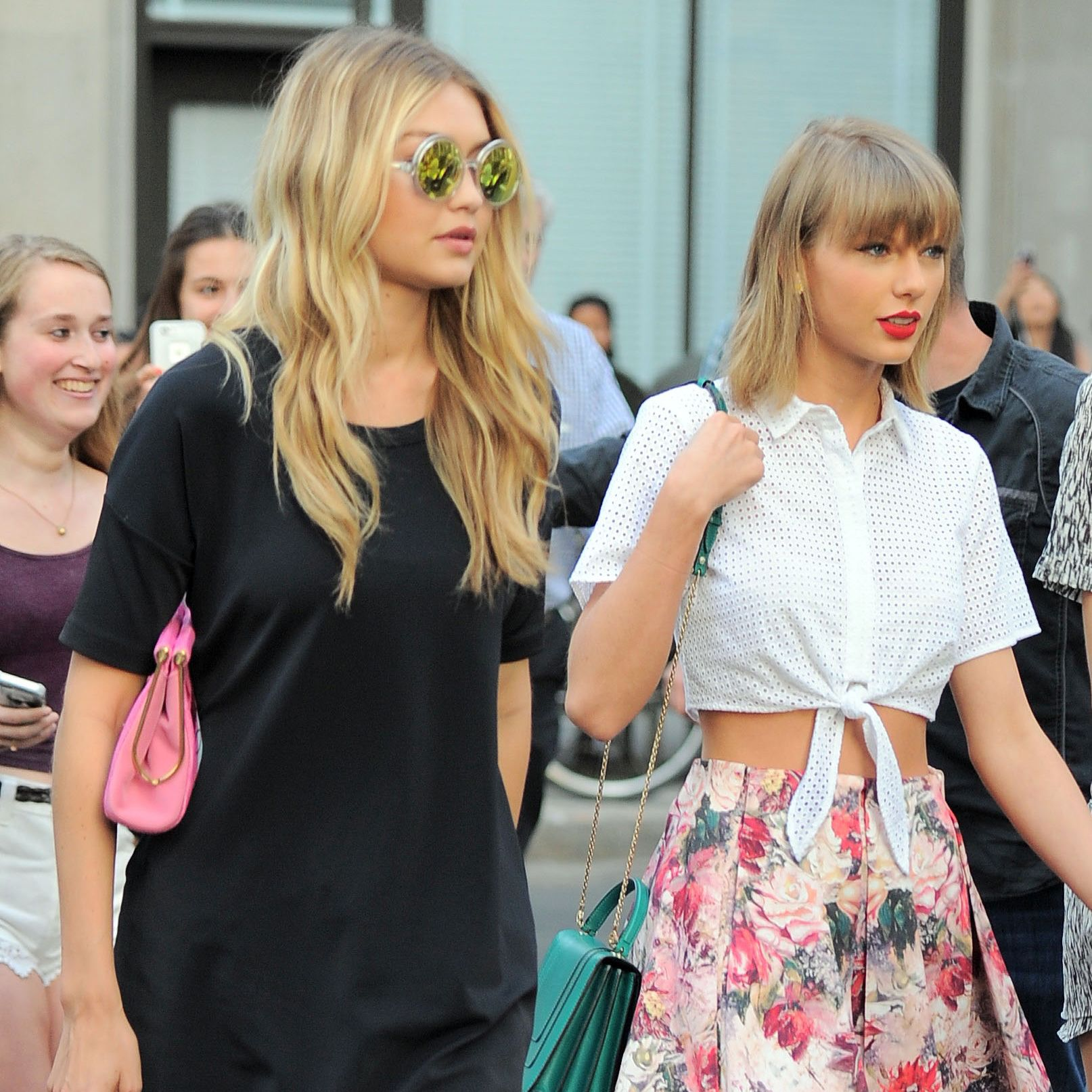 """<p>Hadid, a card-carrying member of T-Swift's #squad, <a href=""""http://people.com/celebrity/taylor-swift-hangs-out-with-her-ex-joe-jonas-and-her-bestie-gigi-hadid/"""" target=""""_blank"""" data-tracking-id=""""recirc-text-link"""">dated singer Joe Jonas in 2015</a> – seven years after <a href=""""http://www.usmagazine.com/celebrity-news/pictures/can-you-believe-they-dated-20091812/5867"""" target=""""_blank"""" data-tracking-id=""""recirc-text-link"""">the pop star dated Jonas herself</a> and was dumped by him in an <a href=""""http://people.com/celebrity/joe-jonas-explains-split-from-taylor-swift/"""" target=""""_blank"""" data-tracking-id=""""recirc-text-link"""">infamous 27-second phone call</a>. Swift didn't seem to hold a grudge though, and was even seen hanging out with the pair before they called it off.</p>"""