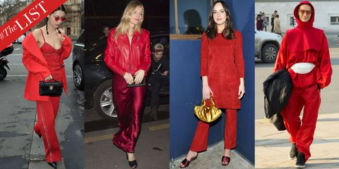 Red, Clothing, Fashion, Velvet, Street fashion, Footwear, Jeans, Electric blue, Outerwear, Textile,