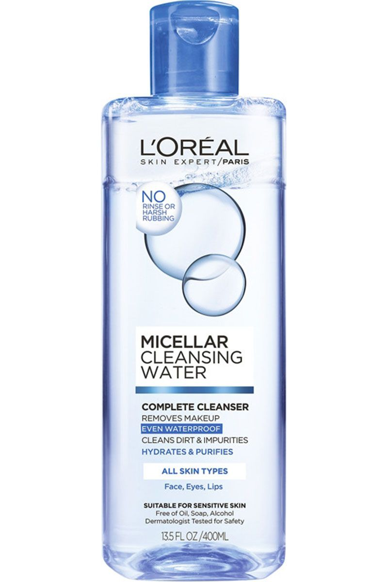 "<p>Long a staple of french pharmacies, micellar water made a huge splash when it started trickling into the U.S. Now you can find it in our drugstores, too. Pour some out on a cotton pad, sweep it over skin, and the micelles will soak up all your dirt, oil, and makeup without ever touching soap and water. </p><p><em data-redactor-tag=""em"" data-verified=""redactor"">L'Oréal Paris Micellar Cleansing Water, $7.89, <a href=""http://www.target.com/p/l-oreal-paris-micellar-cleansing-water-normal-oily-13-5oz/-/A-51232997?ref=tgt_adv_XS000000&AFID=google_pla_df&CPNG=PLA_Health+Beauty+Shopping&adgroup=SC_Health+Beauty&LID=700000001170770pgs&network=g&device=c&location=9004057&gclid=Cj0KEQjwnsPGBRDo4c6RqK-Oqu8BEiQAwNviCRYubri-7v_19O7CvxX4t5HmIo0l-ifTTHawwwH1eRAaAjFB8P8HAQ&gclsrc=aw.ds"" target=""_blank"" data-tracking-id=""recirc-text-link"">target.com</a>.</em></p>"