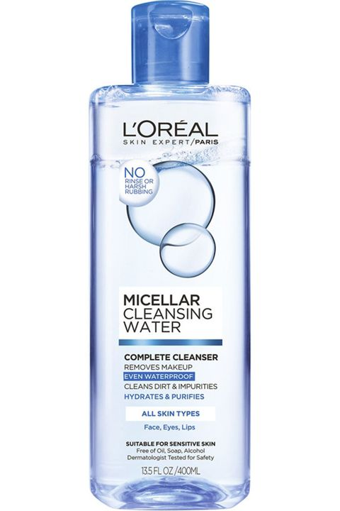 "<p>Long a staple of french pharmacies, micellar water made a huge splash when it started trickling into the U.S. Now you can find it in our drugstores, too. Pour some out on a cotton pad, sweep it over skin, and the micelles will soak up all your dirt, oil, and makeup without ever touching soap and water.&nbsp;</p><p><em data-redactor-tag=""em"" data-verified=""redactor"">L'Oréal Paris Micellar Cleansing Water, $7.89, <a href=""http://www.target.com/p/l-oreal-paris-micellar-cleansing-water-normal-oily-13-5oz/-/A-51232997?ref=tgt_adv_XS000000&amp;AFID=google_pla_df&amp;CPNG=PLA_Health+Beauty+Shopping&amp;adgroup=SC_Health+Beauty&amp;LID=700000001170770pgs&amp;network=g&amp;device=c&amp;location=9004057&amp;gclid=Cj0KEQjwnsPGBRDo4c6RqK-Oqu8BEiQAwNviCRYubri-7v_19O7CvxX4t5HmIo0l-ifTTHawwwH1eRAaAjFB8P8HAQ&amp;gclsrc=aw.ds"" target=""_blank"" data-tracking-id=""recirc-text-link"">target.com</a>.</em></p>"