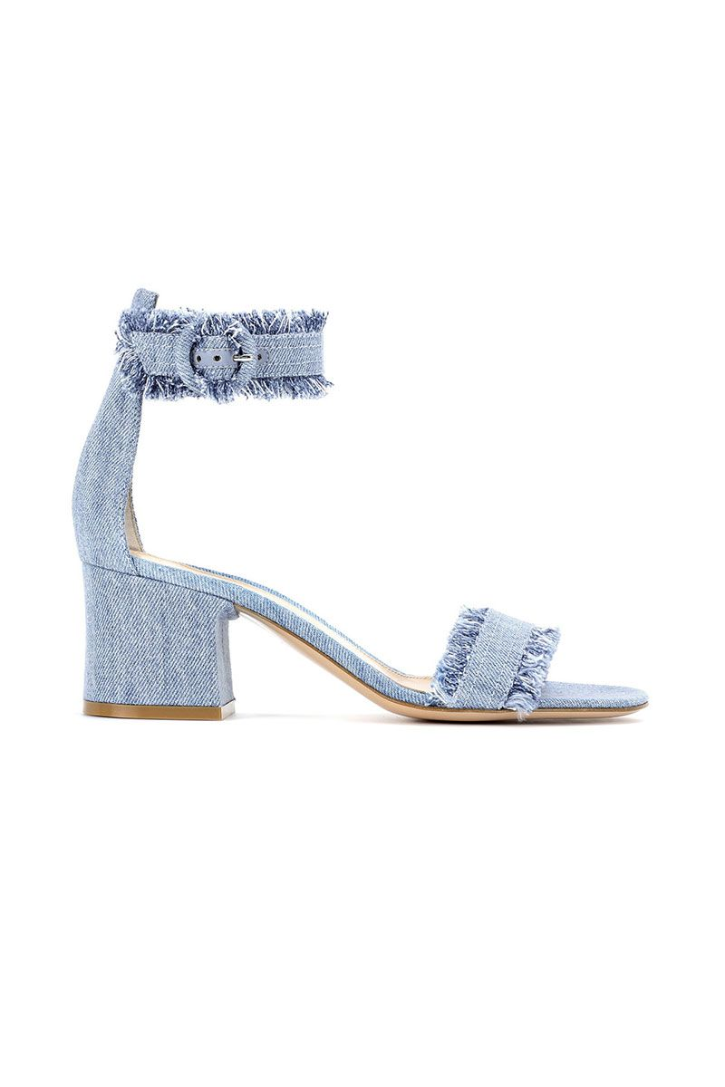"<p><strong data-redactor-tag=""strong"" data-verified=""redactor"">Gianvito Rossi</strong> sandals, $715, <a href=""https://shop.harpersbazaar.com/designers/gianvito-rossi/kiki-denim-ankle-strap-sandals-13392.html"" data-tracking-id=""recirc-text-link"" target=""_blank""><strong data-redactor-tag=""strong"" data-verified=""redactor"" data-tracking-id=""recirc-text-link"">ShopBAZAAR.com</strong></a>.</p>"