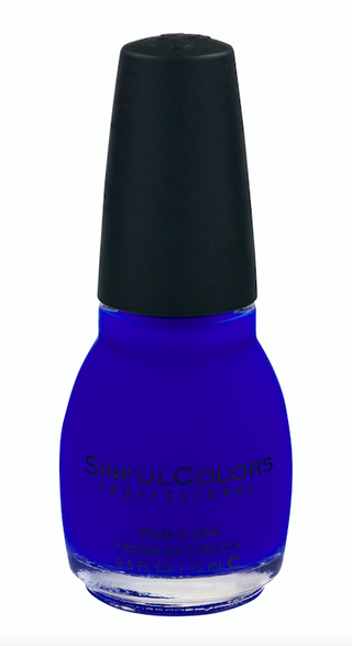 6c9347f058a4d Selena Gomez Blue Nail Polish - 13 Reasons Why Premiere Blue Nails
