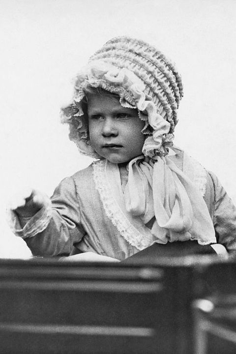 """<p>The bonnet that started it all. At just two years old, the <a href=""""http://www.housebeautiful.com/lifestyle/a5397/rare-photo-of-queen-elizabeth/"""" target=""""_blank"""" data-tracking-id=""""recirc-text-link"""">young Princess Elizabeth</a> knew the power of a good hat.&nbsp;</p>"""