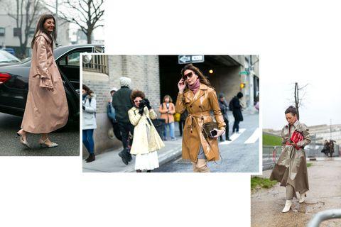 Street fashion, Photograph, Fashion, Clothing, Snapshot, Trench coat, Outerwear, Fur, Coat, Costume,