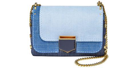 Bag, Handbag, Blue, Fashion accessory, Denim, Shoulder bag, Leather, Wristlet, Electric blue,
