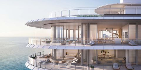 Luxury yacht, Architecture, Building, Real estate, Balcony, Yacht, House, Facade, Leisure, Roof,