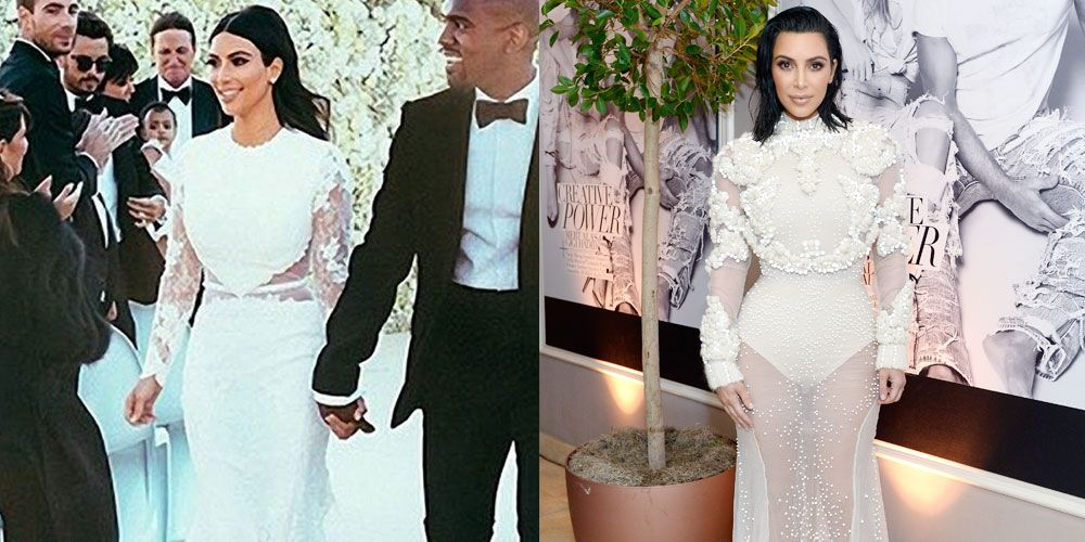 Kim Kardashian Wears Risque Upgrade To Wedding Dress
