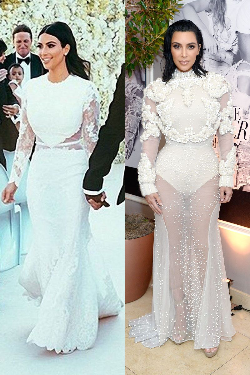 Kim Kardashian Wears Risque Upgrade To Wedding Dress Kim