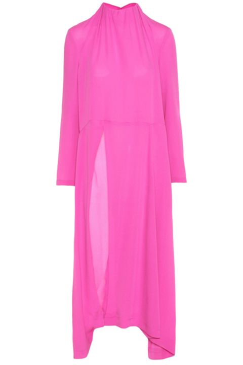 Clothing, Pink, Magenta, Sleeve, Outerwear, Dress, Purple, Robe, Neck, Collar,