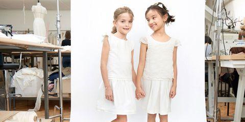 White, Clothing, Dress, Fashion, Child, Shoulder, Fashion design, Child model, Textile, Toddler,