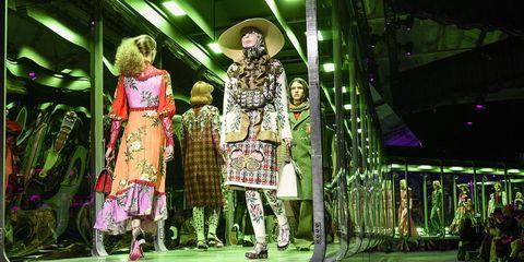 Fashion, Green, Fashion design, Performance, Event, Fun, Adaptation, Fashion show, Stage,