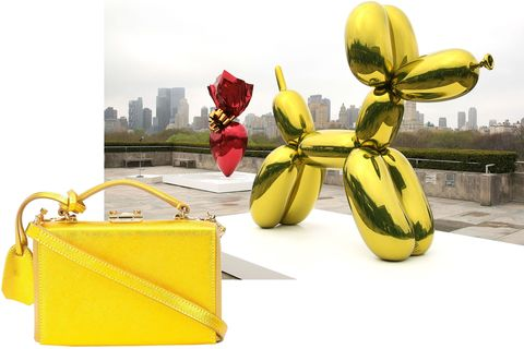 "<p>Set a metallic mood inspired by Jeff Koons's <em data-redactor-tag=""em"" data-verified=""redactor"">Balloon Dog.</em></p><p><em data-redactor-tag=""em"" data-verified=""redactor"">Mark Cross bag, $2,095, <a href=""https://shop.harpersbazaar.com/designers/mark-cross/mini-grace-crossbody-bag-11303.html"" data-tracking-id=""recirc-text-link"">ShopBAZAAR.com</a>. </em></p>"