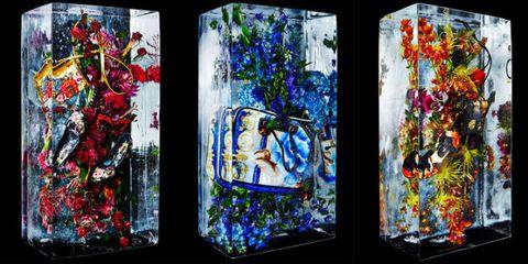Purple, Glass, Colorfulness, Magenta, Fixture, Art, Majorelle blue, Modern art, Creative arts, Cobalt blue,