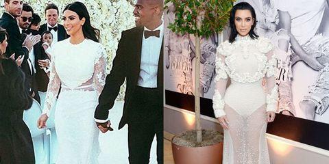 Kim Kardashian Wears Risque Upgrade To Wedding Dress Kim Kardashian Wears Pearl Givenchy Dress